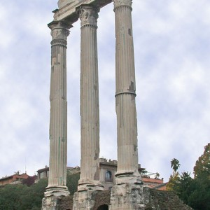 The Temple of the Castori in Rome