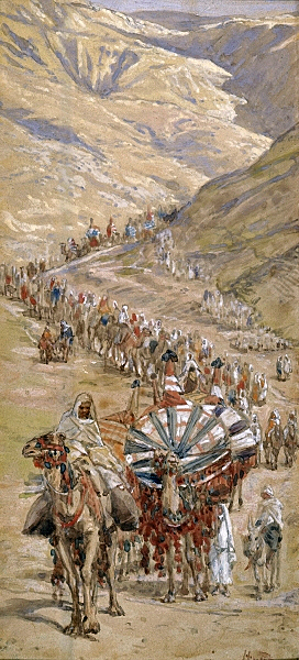"""James Tissot, Caravan of Abram circa 1900"""