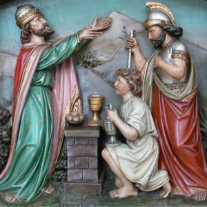 """""""Wolpertswende St Gangolf Hochaltar Detail"""" by sculpture: Moriz Schlachter (1852–1931); Photo: Andreas Praefcke"""