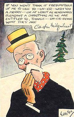 Caspar Milquetoast Christmas card